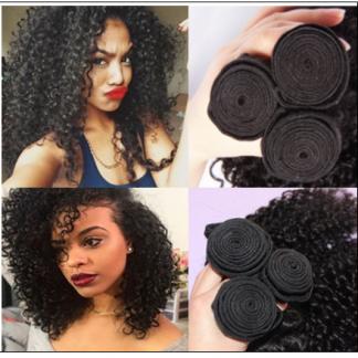 3 Bundles Natural Color Malaysian Jerry Curly Virgin Hair img 1