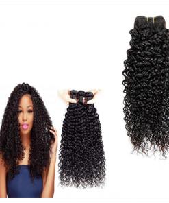 3 Bundles Natural Color Malaysian Jerry Curly Virgin Hair img 2