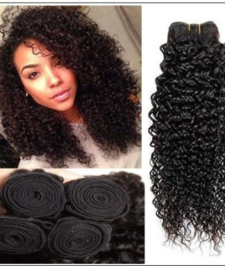 4 Bundles Jerry Curl Peruvian Hair Weave img 1