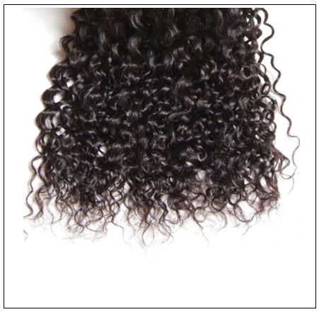 4 Bundles Weft Natural Color Peruvian Jerry Curly Hair img