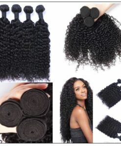 4 Bundles Weft Natural Color Peruvian Jerry Curly Hair img 3