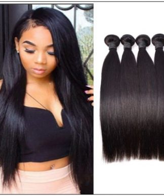 4 PcsPack Straight Raw Virgin Human Hair Bundles