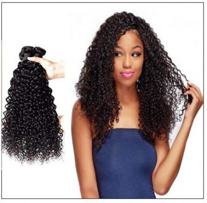 Brazilian Curly Human Hair Weaves 4 Bundles Deals img 2