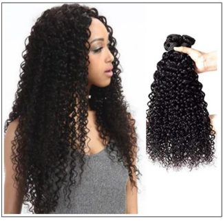 Brazilian Jerry Curly Human Virgin Hair Weaving 3 Bundles Deals img 1
