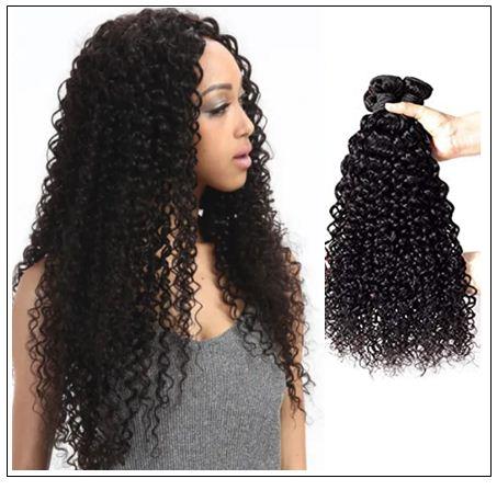 Brazilian Jerry Curly Human Virgin Hair Weaving 3 Bundles Deals img 1