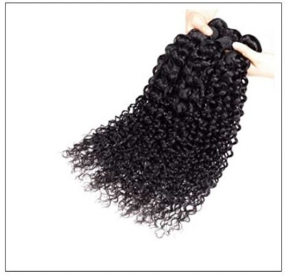 Brazilian Jerry Curly Human Virgin Hair Weaving 3 Bundles Deals img 4