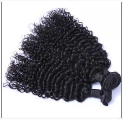 Malaysian Jerry Curly Human Hair 3 Bundles Weft Natural Color 2