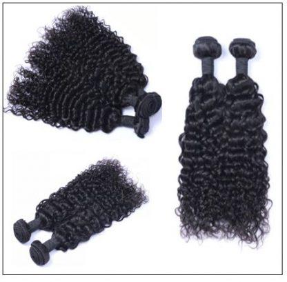 Malaysian Jerry Curly Human Hair 3 Bundles Weft Natural Color 3