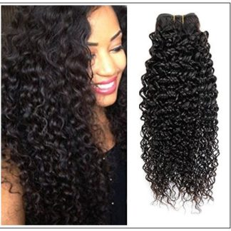 Malaysian Jerry Curly Human Hair 3 Bundles Weft Natural Color img