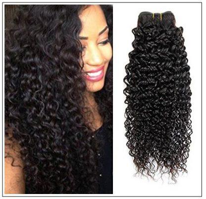 Malaysian Jerry Curly Human Hair 3 Bundles Weft Natural Color img