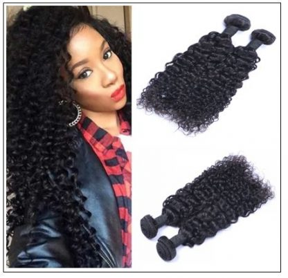 Malaysian Virgin Hair African American Jerry Curly Weave 4 Bundles img