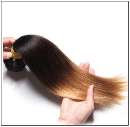 1 Bundle 3 Tone Ombre Straight Virgin Hair Weaving Remy Hair img 2-min