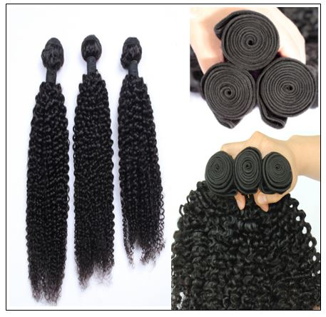 100% Kinky Curly Virgin Human Hair Bundle img 2