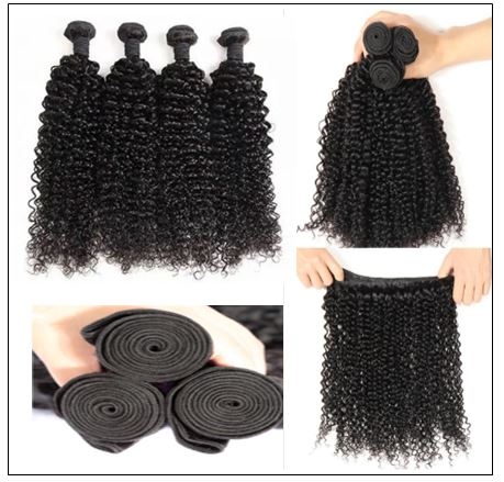 100% Kinky Curly Virgin Human Hair Bundle img 3
