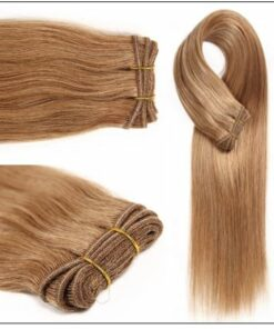 12 # Light Brown Colored Weave Brazilian Remy Human Hair img 2-min