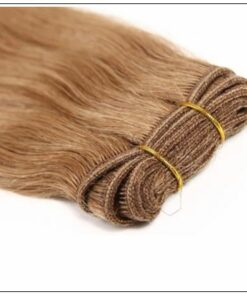 12 # Light Brown Colored Weave Brazilian Remy Human Hair img 3-min