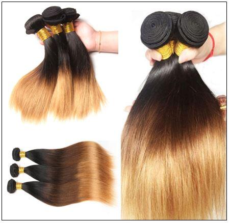 3 Bundle Brazilian Ombre Straight Premium Human Hair Weave img 2-min