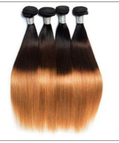 3 Bundle Brazilian Ombre Straight Premium Human Hair Weave img 3-min