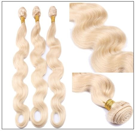 3 Bundles Body Wave 613 Blonde Virgin Human Hair img 4-min