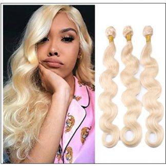 3 Bundles Body Wave 613 Blonde Virgin Human Hair img-min