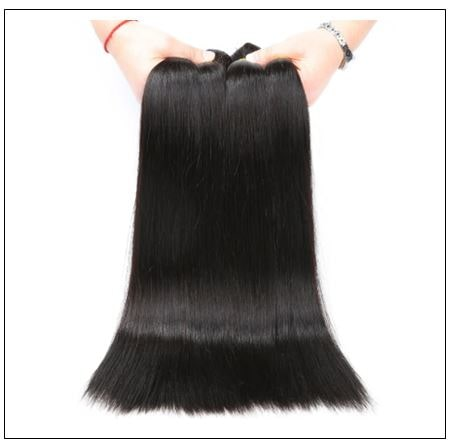 3 Bundles Bone Straight Malaysian Human Hair Weaving img 4-min