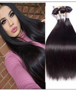 3 Bundles Bone Straight Malaysian Human Hair Weaving img-min