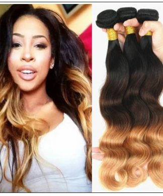 3 Bundles Brazilian Ombre Body Wave Human Hair img-min