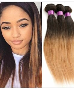 3 Bundles Brazilian Ombre Straight Hair Weave img-min