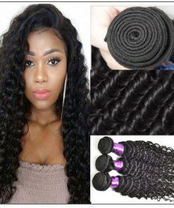 3 Bundles Indian Deep Wave Human Virgin Hair img 3-min