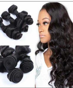 3 Bundles Indian Loose Wave Human Virgin Hair Weft img