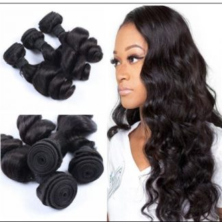 3 Bundles Indian Loose Wave Human Virgin Hair Weft img