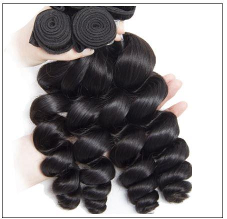 3 Bundles Indian Loose Wave Virgin Human Hair Weave img 2-min
