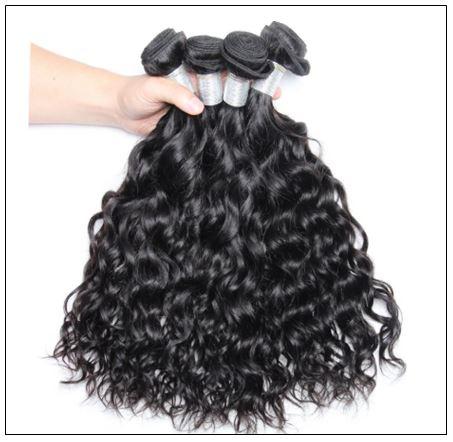 3 Bundles Indian Virgin Natural Wave Weave Human Hair img 3-min