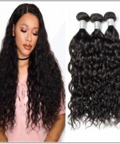 3 Bundles Indian Virgin Natural Wave Weave Human Hair img-min