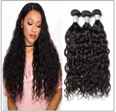 3 Bundles Indian Virgin Natural Wave Weave Human Hair img-min