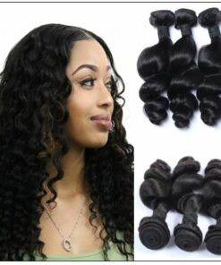 3 Bundles Malaysian Loose Wave Virgin Human Hair img 1-min