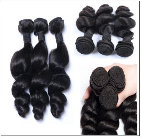 3 Bundles Malaysian Loose Wave Virgin Human Hair img 2-min