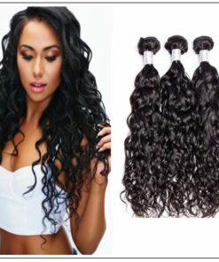 3 Bundles Malaysian Natural Wave Virgin Hair Weave img-min