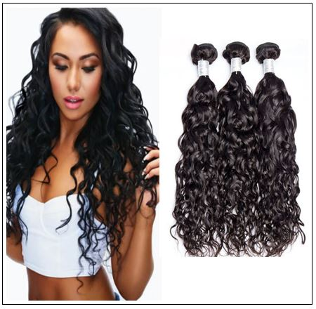 3 Bundles Malaysian Natural Wave Virgin Hair Weave img-min