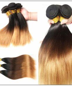 3 Bundles Malaysian Ombre Straight Human Virgin hair img 2-min