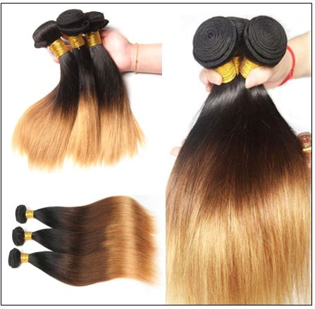 3 Bundles Malaysian Ombre Straight Human Virgin hair img 2-min