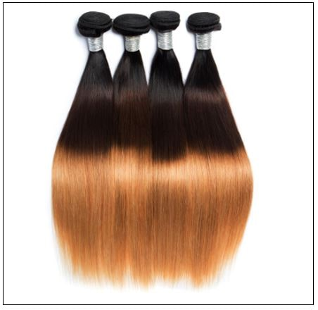3 Bundles Malaysian Ombre Straight Human Virgin hair img 3-min