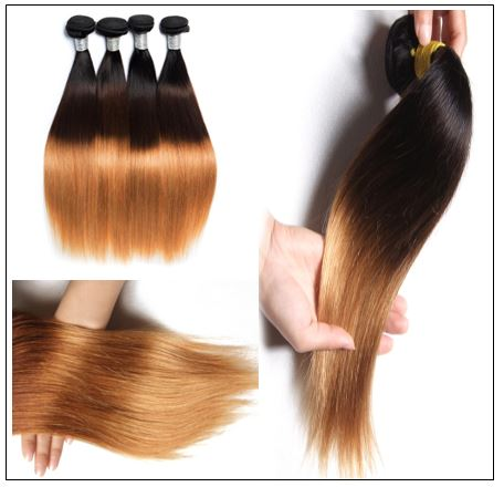 3 Bundles Malaysian Ombre Straight Human Virgin hair img 4-min
