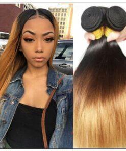 3 Bundles Malaysian Ombre Straight Human Virgin hair img-min