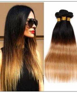 3 Bundles Straight Hair Weaves Ombre Human Hair Weft img-min