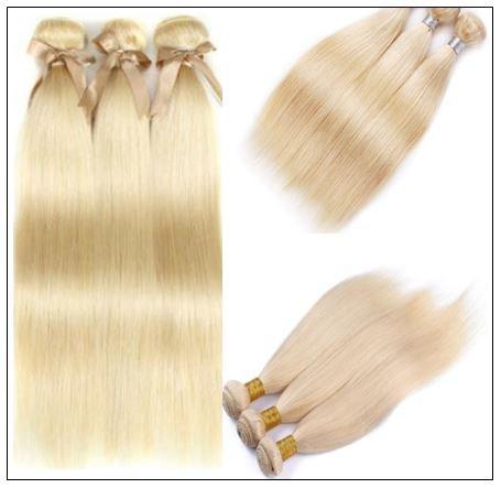 3 Bundles Straight Weave Blonde Hair Extension img 3-min