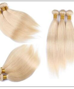 3 Bundles Straight Weave Blonde Hair Extension img 4-min