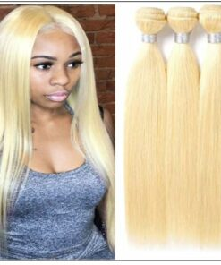 3 Bundles Straight Weave Blonde Hair Extension img-min