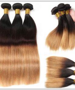 3 Bundles Unprocessed Indian Ombre Straight Human Virgin Hair img 2-min
