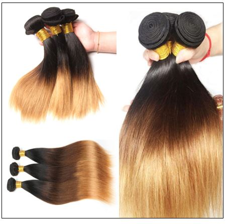 3 Bundles Unprocessed Indian Ombre Straight Human Virgin Hair img 3-min